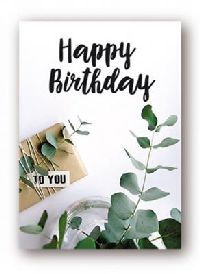 Minikarten Happy Birthday - Holzklammer Urban Jungle 9420