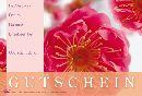 Gutschein ROSA - Rote Blüten Fleur Gutschein 17,2x11,4cm
