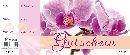 Gutschein Orchidee Bon Block 24,5x10,5cm