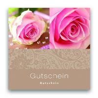 Gutschein Roses between diamonds12131009 Present 12x12cm  inkl.Umschlag