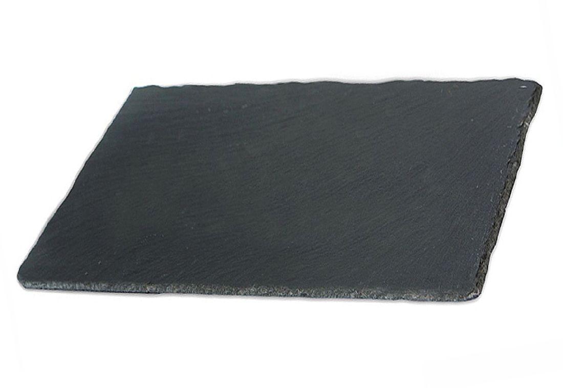 Schieferplatten ANTHRAZIT  Schieferuntersetzer 20x15x0,5cm  69237 4Gummifüße