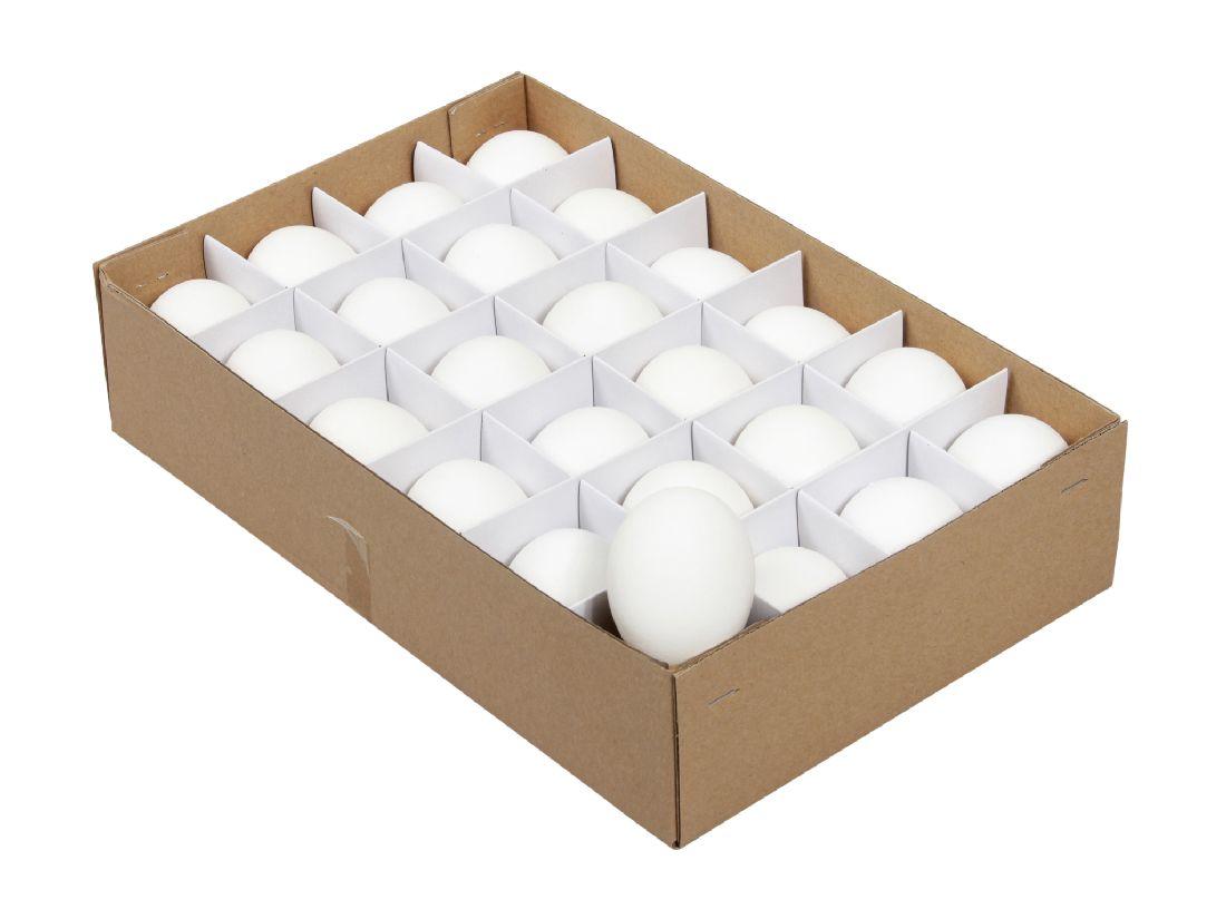 Hühnereier echt WEISS 01395 ca.6 cm in Box