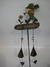 Gartenstecker Metall BUNT- Junge 26xh130cm