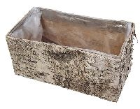 Topf Birke / Birkentopf NATUR 80566 Kiste rechteckig 20x10cm