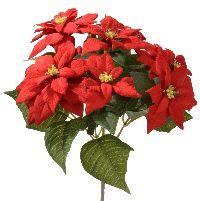 Poinsettia-Busch (Weihnachts ROT 2614 x7  L=30cm
