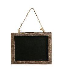 Tafel zum Hängen BRAUN 470550 rechteckig 30x1,5xH22,5/39cm
