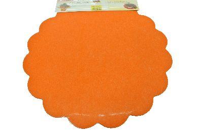 Blumella Topfmansch.Abreißbloc ORANGE-Fleece+Folie 54cm 25St.block