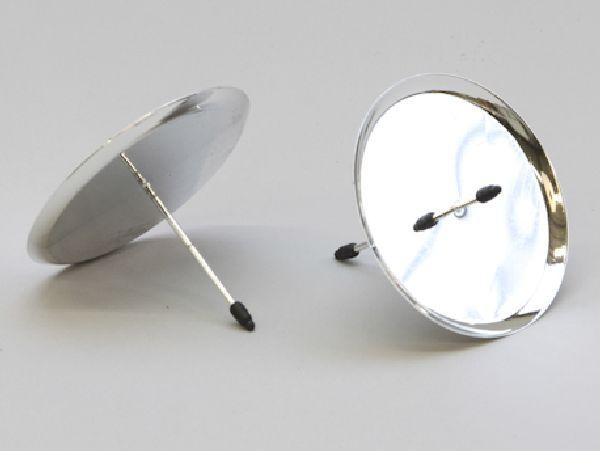 kerzenteller mit pick silber 233251 25931 80mm. Black Bedroom Furniture Sets. Home Design Ideas