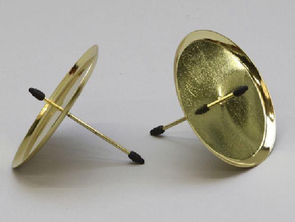 kerzenteller mit pick gold 233250 25930 80mm. Black Bedroom Furniture Sets. Home Design Ideas