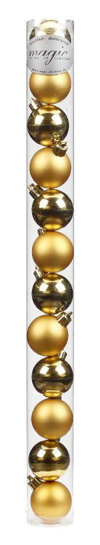 Kugel - Kunststoff - bruchfest 12 Stück GOLD 8101201 Ø40mm, Kunststoff