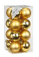 Kugel - Kunststoff - bruchfest 16 Stück GOLD 773101 Ø60mm, Kunststoff