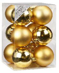 Kugel - Kunststoff - bruchfest 12 Stück GOLD 773201 Ø80mm, Kunststoff