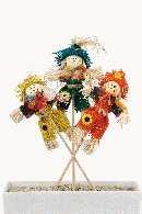Vogelscheuche BUNT 5424300 3-fach Stecker B:12cm H:18cm GL:32cm