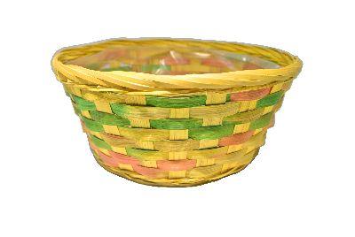 Korb multicolor GELB rund Ø25xH10cm