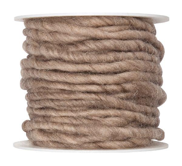 Wollschnur mit Jute NATUR 79 3-8mm 10m 61710 handgearbeitet