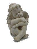 Engel Samuel stein-weiss 13385 20x16x16cm Polyresin
