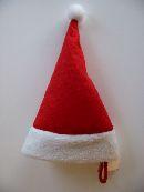 Nikolausmütze/Weihnachtsmütze ROT-WEISS  13130 20x12,5cm  Filz
