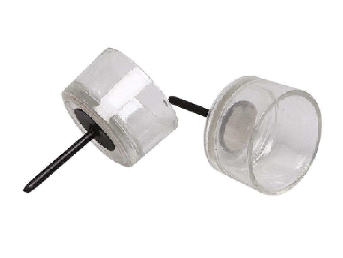 Teelichthalter Glas mit Pick KLAR  233220 Ø5cm  Dornlänge:4,5cm