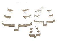 Streusortiment Holz-Mix WEISS10-0564 5x7cm Dicke:0,7cm Baum-Mix 20Stück 9x2,5cm/6x5cm