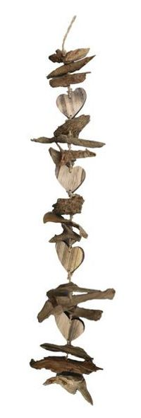 Girlande Driftwood BRAUN 30829 mit Herz  90cm
