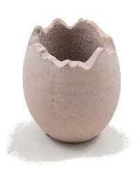 Ei gebrochen Keramik ROSA-RUSTIKAL 10,5x12cm 81519