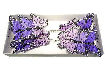 Schmetterling Stecker LILA/FLIEDER 9,5cm 14138