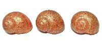 Schnecke Ring Gold-Burgund 7418 GINA