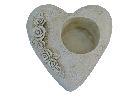 Pflanzherz mit Rosenranke stein-weiss 13707 19x19x9cm  Polyresin
