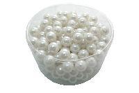 Perlen WEISS 14mm 300g ca 210 St.