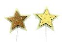 Stern Hofi CREME-GOLD 34378 159 Stecker 8cm Holz-Filz 2-farbig