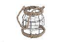 Laterne Metallgitter BRAUN 12485 19x14cm
