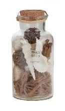 Natur-Deko-Mix in Flaschen BRAUN-WEISS 14738 711 Muscheln+Naturmix