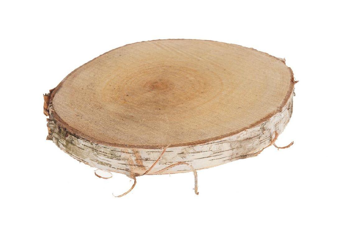 Birkenscheiben NATUR 25842 Ø30cm x 3,5cm  rund