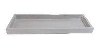 Dekotablett / Holztablett GRAU  10764 35x11,5x2,5cm