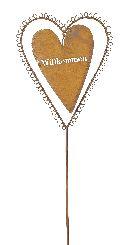 Gartenstecker Herz Willkommen ROST 16xH91cm 440584