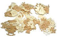 Filz Mix X-MAS CREME-BRAUN 4764101 12-fach / ca.2-4cm / 96 Stück