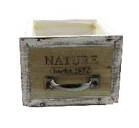 Schubladenbox mit Innenfolie VINTAGE 12571 Holz NATURE Herbs 16x14xH12cm