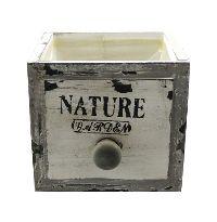 Schubladenbox mit Innenfolie VINTAGE 12568 Holz NATURE Garden 12x12xH11cm