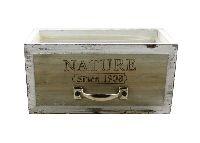 Schubladenbox mit Innenfolie BRAUN-VINTAGE 12572 NATURE since 1908 20x10xH10cm