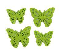 Filzstreu Smati GRÜN 16046  72 Stück Schmetterling 3,5-4cm  4-fach