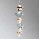 Fisch Sealine BLAU-WEISS-TAUPE 34997 Girlande Länge=31cm