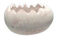 Ei gebrochen Keramik 24192 ANTIK WEISS 15x11,5x9cm wasserdicht