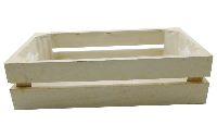 Holzkiste mit Folie WEISS 14012 30x15x8cm