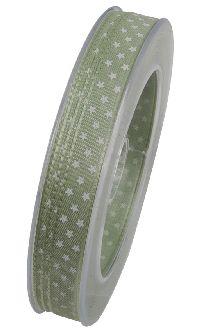 Denver Sternenband LINDGRÜN X683 10mm 25 Meter Weihnachtsband