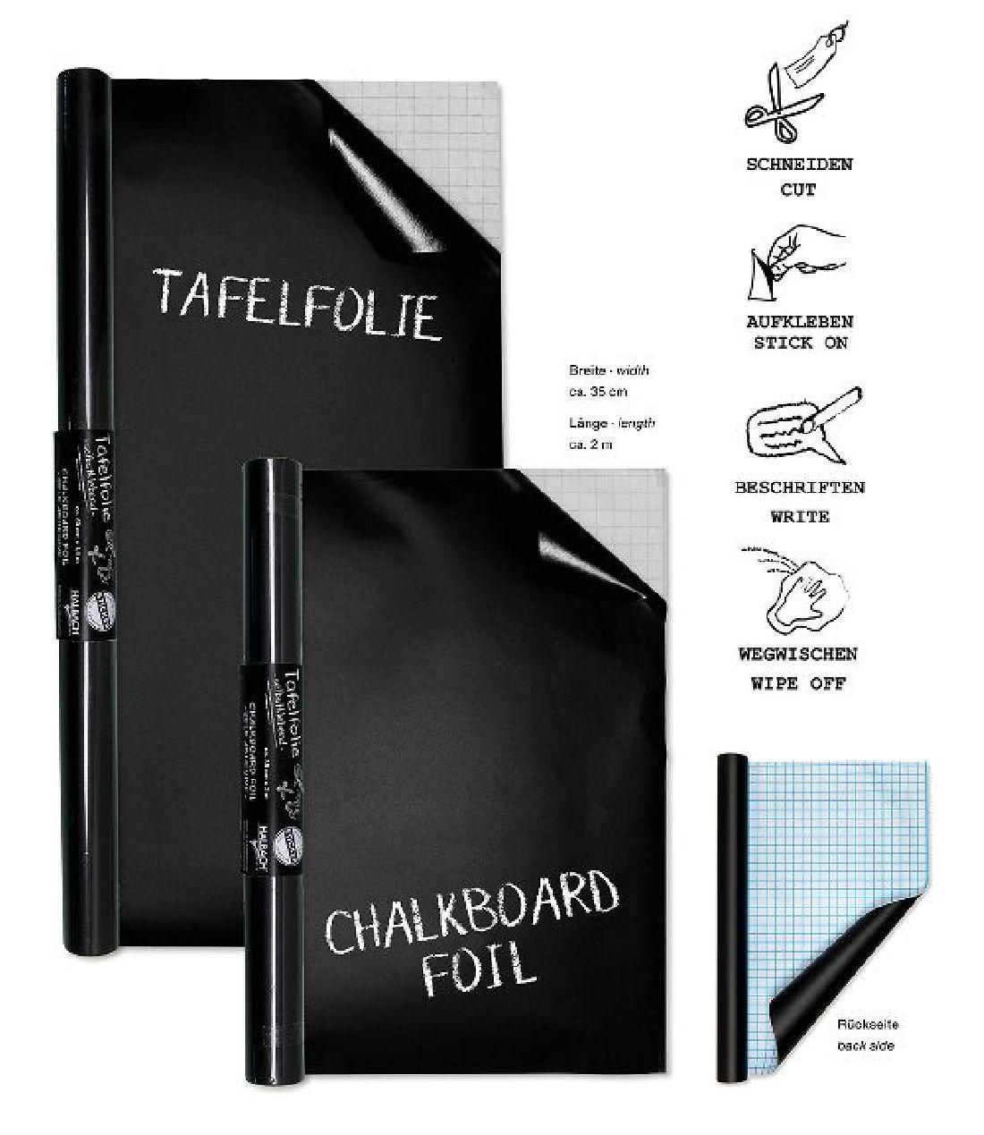 tafelfolie schwarz 19680 35cm x 2m selbstklebend. Black Bedroom Furniture Sets. Home Design Ideas