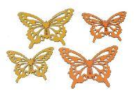 Schmetterling Emilia GELB-ORANGE 17188 2Größen Hänger 8,5x12cm + 10x15,5cm