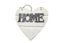 Dekoherz HOME WEISS-GRAU Holz 2-seitig 15018 21x21cm Dicke:1,8cm