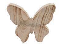 Schmetterling zum Stellen NATUR 330523 16x16cm Dicke:3cm Holz