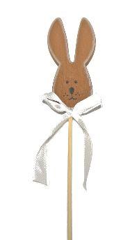 Hasenstecker Ted BRAUN Holz mit Schleifenband 9x4cm Länge:25cm 17154