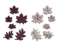 Herbstlaub Autumn berry-rosa 2-farbig 37077 2,5cm -4,5cm Holz